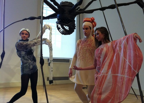 Dancers with Louise Bourgeois' Spider. Photo © Edd McCracken