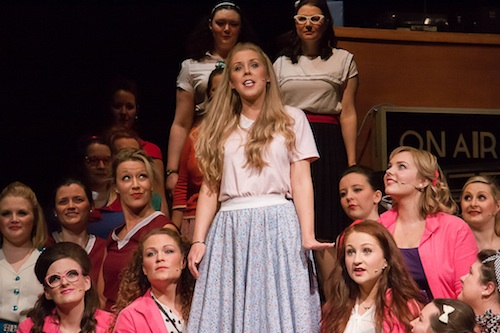 Rachel McCorkell (Sandy) and the Pink Ladies. Photo © Richard Moir