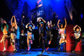 Tyrone and the dancers. Photo © Fame the Musical